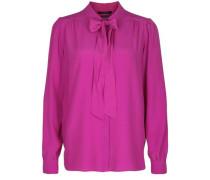 Bluse mit Schluppe pink