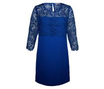 Kurzes Dress mit Häkelspitze 'Milena' blau