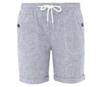 Sommerliche Leinen-Shorts taubenblau