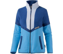 Sunset Fleecejacke Damen blau / hellblau / grau