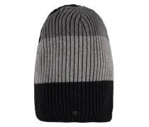 Mütze Strick wendbar mischfarben
