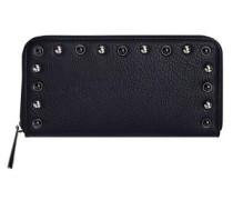 Portemonnaie mit Nietenverzierung schwarz