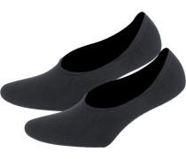2 Paar Füßlinge schwarz
