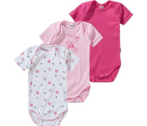 Bodys 3er-Pack für Mädchen blau / pink / rosa / weiß