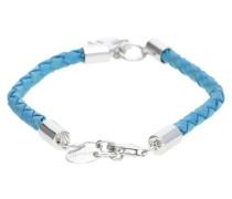 Damen Armband 'Good Luck' blau / silber