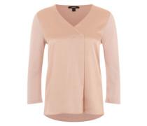 Blusenshirt im Material-Mix pink