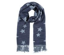 Schal mit Sternen-Print blau / hellblau