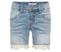 Jeansshorts nitatira slim blau