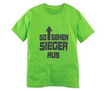 """T-Shirt """"So sehen Sieger aus"""" für Jungen dunkelgrau / limette"""