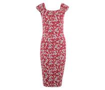 Kleid mit Allover-Print rotviolett / mischfarben