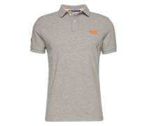Poloshirt 'classic NEW FIT Pique Polo' graumeliert