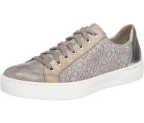 Sneakers taupe / silber