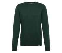 Pullover in meliertem Look dunkelgrün
