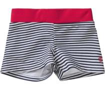 Badehose für Jungen mit UV-Schutz blau / rot