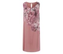 Kleid mit großem Print grau