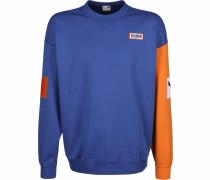 Sweater ' Colour Block Crew ' blau / orange