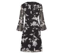 Langarm Kleid 'Fluent p george' schwarz / offwhite