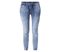 Sweat-Jeans mit Stretch 'Cosie' blau