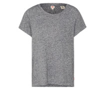 T-Shirt 'The perfect pocket tee' graumeliert