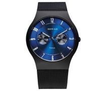 Multifunktionsuhr blau / schwarz