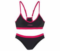 Bustier-Bikini cranberry / schwarz