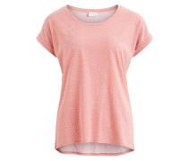 Gestreiftes T-Shirt pink / weiß