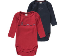 Baby Body Doppelpack blau / rot