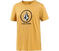 'Circlestone' T-Shirt Herren gelb