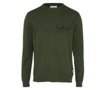 Pullover 'coutili' dunkelgrün
