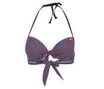 Bikinitop mit Print blau