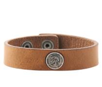 Leder-Armband mit Logo-Emblem 'A-Shoot' braun