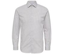 Slim-Fit-Hemd weiß