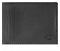 Safino Geldbörse Leder 11 cm schwarz