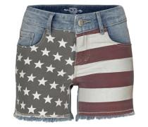 Jeansshorts blue denim / rot / black denim / weiß