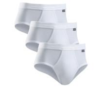 Feinripp-Sportslips (3 Stck.) weiß