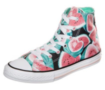 Sneaker 'Chuck Taylor All Star Watermelon High' türkis / pink / schwarz