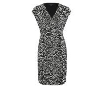Wickelkleid mit Print schwarz / weiß