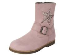 Kurzer Stiefel mit Stern rosa