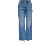 Chad hw crop Straight Fit Jeans blue denim