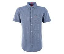 Hemd mit Allover-Print himmelblau