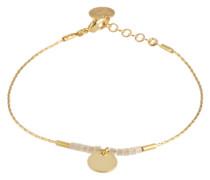 Glänzendes Armband 'Sailor' gold / weiß