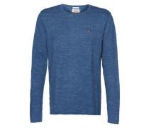 Melierter Pullover blau