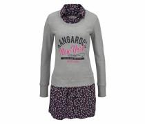 Sweatkleid graumeliert / lila / pink