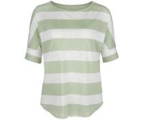 Oversized T-Shirt beige / grün