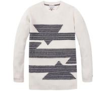 """Pullover """"thdw GEO CN Sweater L/S 36"""" navy / eierschale"""