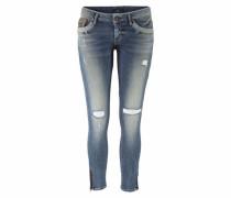 'Marta' Slim-fit-Jeans blau