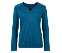 Blusenshirt in Slub Yarn-Design blau