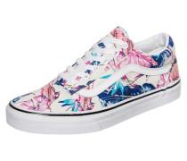 Old Skool Tropical Sneaker beige / blau / türkis / rosa