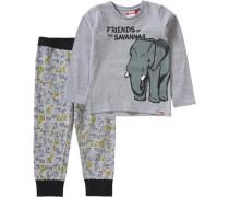 Baby Schlafanzug NIS für Jungen grau