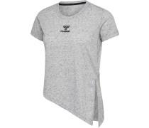 T-shirt S/S grau / schwarz